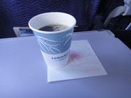 機内サービスはコーヒー