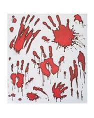 Raamdecoratie bloody hands € 2,95
