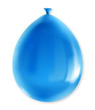 Party Ballonnen Blauw metallic €2,25 8stuks