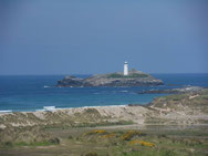 View of Godrevy Lighthouse, Cornwall