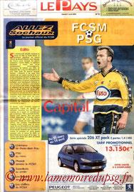 Programme  Sochaux-PSG  2002-03