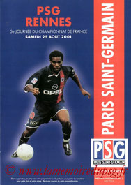 Programme  PSG-Rennes  2001-02