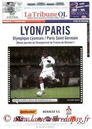 Programme  Lyon-PSG  2001-02