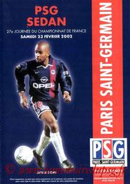 Programme  PSG-Sedan  2001-02
