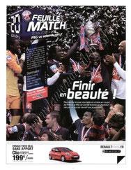 2010-05-15  PSG-Montpellier (38ème L1, Feuille de match N°12)