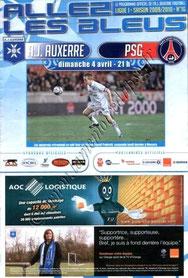 2010-04-04  Auxerre-PSG (31ème L1, Allez les Bleus N°16)