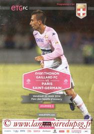Programme  Evian TG-PSG  2014-15