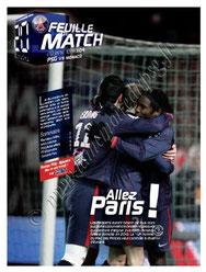 2010-01-20  PSG-Monaco (21ème L1, Feuille de match N°4)