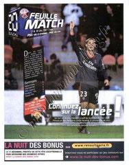 2009-12-16  PSG-Lens (11ème L1 en retard, Feuille de match N°2)