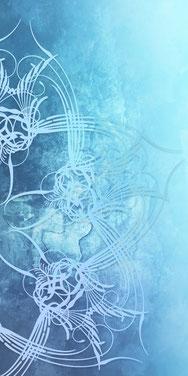 Serie Ornamente in Blau