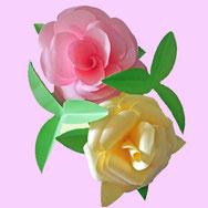 Papierblumen Papierrosen Rosen filigran edel handgemacht