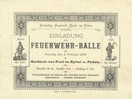 1.Einladung FF-Ball 1896