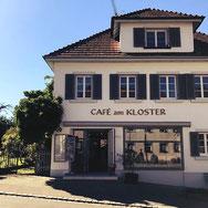 Wie der Name schon sagt, befindet sich das Café am Kloster direkt gegenüber dem wunderschönen Kloster auf der Insel Reichenau im Bodensee.