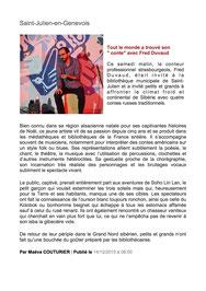 Article du Dauphiné (14/12/15)