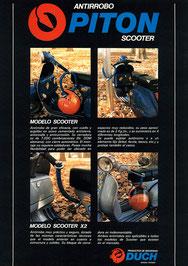 Publicidad Pitón Original Duch (Scooters) - Año 1982