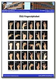 ÖGS österreichische Gebärdensprache Fingeralphabet ABC