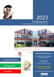 Kursprogramm Pfeffer Consulting öffentliche Kurse