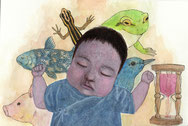 稲垣利紗   /   胎児の頃の夢