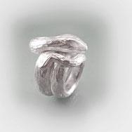 Schmuck, Ring, Schlange,  Weiblich,  Männlich, Silber 925/000, schwererer Silberring, strukturierte Oberfläche, Künstlerischer Schmuck, Kreativer Schmuck, Phantasievoll, Einzelstück,