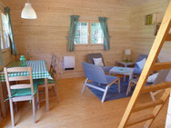 Log Cabin camping carpe diem