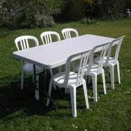 location chaises et tables allauch fêt entre amis
