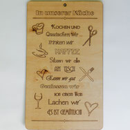 Holzbrett zum Aufhängen mit individuellem Text zu Weihnachten