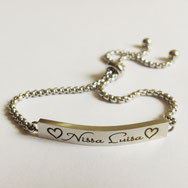 Namenskette Armband Baby gold mit Gravur Name