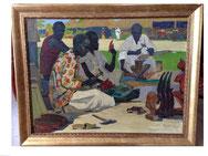 Александр Бурак. Народные умельцы. Сенегал. 1968 г. Холст, масло. 60х80 см.