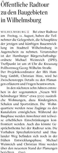 Hamburger Abendblatt vom 05.08.2017, Harburg Stadt, Seite 1