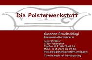 Sie erreichen uns am schnellsten per Tel: 09181/296873 oder per Mail: die_polsterwerkstatt@web.de