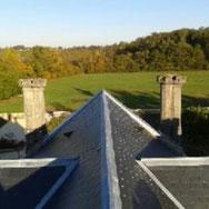 réalisation de toit en ardoise par l'entreprise Tempérault Bruno située à Rouillac en Charente