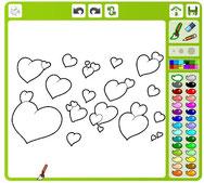 online kleuren valentijn