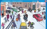 sneeuw en gladheid op straat