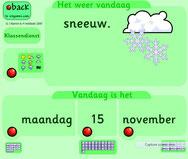 dag- + weerkalender voor het digibord