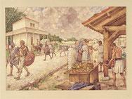 schoolplaat : Romeins legerkamp