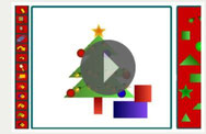 maak een kerstboom + versier die boom