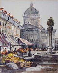 Markt vor dem Bundeshaus Bern