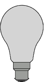 Bahnlampe Sockel B22d