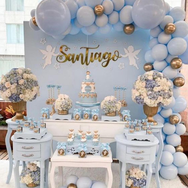 mesa de dulces para bautizo