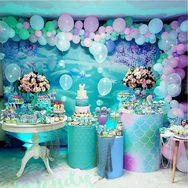 mesa de dulces de la sirenita