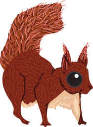 British wildlife Red Squirrel woodland animal vinyl sticker