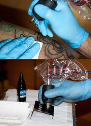 Тата, татуировка в салоне