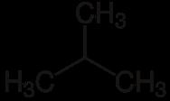 Strukturformel von Iso-Butan