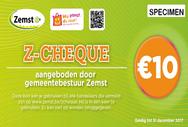 Betalingen met de z-cheque van de gemeente Zemst zijn mogelijk bij Sfeer & Smaak