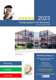 Kursprogramm Pfeffer Consulting Firmen Kurse B2B