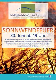 Plakat Sonnwendfeuer Wißmarer See