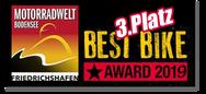 Motorradwelt Bodensee 2019 Best Bike Award Platz 3, 3.Platz, Kategorie Streetfighter, SV 650 N