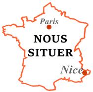 Plan pour situer le Cabinet WABG Avocats & Associés à Nice et à Paris
