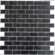 Quarz Natursteinmosaik schwarz