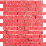 Quarz Natursteinmosaik rot